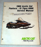 1989 ARCTIC CAT PANTERA EL TIGRE 6000 Snowmobile OEM Shop Service Repair Manual