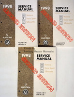 1998 Service Manual Chevrolet Venture Pontiac Trans Sport Oldsmobile Silhouette Volume 1, 2, 3