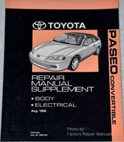 1997 Toyota Paseo Convertible Service Repair Manual Supplement