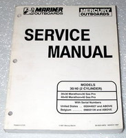 MERCURY 30hp 40hp 30 40 2 Cylinder Marathon Sea Pro Outboard Shop Service Manual