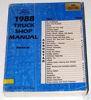 Ford 1988 Truck Shop Manual Aerostar