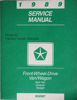 1989 Chrysler Front Wheel Drive Van/Wagon Service Manual