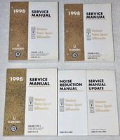 1998 Olds Silhouette Chevy Venture Pontiac Trans Sport Mini-Van Service Manual 5 Volume Set