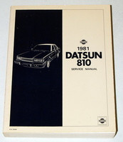 1981 Datsun 810 910 Series Gas Models Factory Service Repair Manual