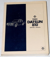1980 Datsun 810 Factory Service Manual Original Shop Repair