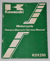 Kawasaki Motorcycle Owner's Manual & Service Manual KDX250