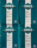 2003 GM Service Manual Tahoe Suburban Avalanche Yukon Denali Escalade Volume 1, 2, 3, 4