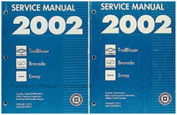 2002 Chevy Trailblazer, GMC Envoy, Olds Bravada Factory Shop Service Manual Set - New
