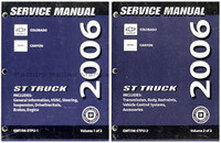 2006 Chevy Colorado & GMC Canyon Factory Shop Service Manual Set New