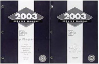 2003 Cadillac CTS Factory Shop Service Repair Manual Set Original
