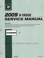 GM 2009 N-Truck Service Manual Hummer H2