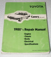 1988 1/2 TOYOTA CAMRY V6 Factory Shop Service Repair Manual 1988.5
