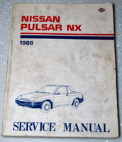 1986 NISSAN PULSAR NX COUPE Factory Dealer Shop Service Repair Manual Book N12