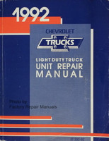 1992 Chevrolet Light Duty Truck Unit Repair Manual