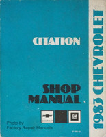 1983 Chevy Citation Factory Shop Manual