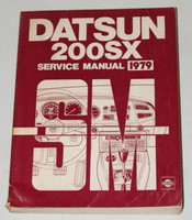 1979 Datsun 200SX Factory Service Manual Original Nissan Shop Repair