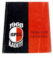 1968 OPEL KADETT DLX, LS Original Factory Dealer Shop Service Repair Manual Book