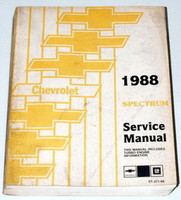 1988 CHEVY SPECTRUM CL EXPRESS TURBO Factory Dealer Shop Service Repair Manual