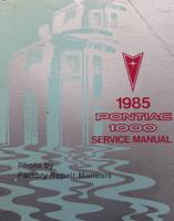 1985 Pontiac 1000 Service Manual