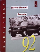 Oldsmobile Service Manual Bravada 1992