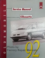 Oldsmobile Service Manual Silhouette 1992