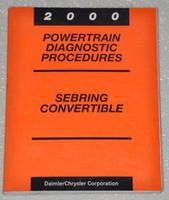 2000 Chrysler Sebring Convertible Powertrain Diagnostics Shop Manual