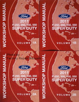 Ford 2011 F-250, 350, 450, 550 Super Duty Workshop Manual Volume 1a, 1b, 2a & 2b