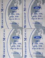 2005 ford f250 f350 f450 f550 super duty workshop manuals