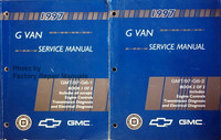 1997 G Van Service Manual Chevrolet GMC Volume 1 and 2