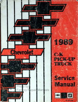 Chevrolet 1989 C-K Pickup Truck Service Manual