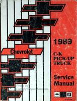 Chevrolet 1989 C-K Pickup Truck Service Manual