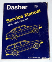 1974 1977 VW DASHER 4 Dr Hatchback, Wagon Bentley Shop Service Manual 1975 1976