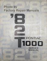 1982 Pontiac T1000 Service Manual