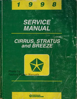 1998 Service Manual Cirrus, Stratus and Breeze