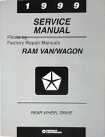 1999 Dodge Ram Van/Wagon Rear Wheel Drive Service Manual
