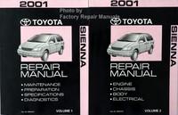 2001 Toyota Sienna Repair Manuals Volume 1 and 2