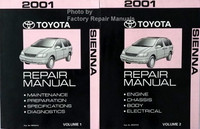 2001 Toyota Sienna Repair Manual Volume 1 and 2