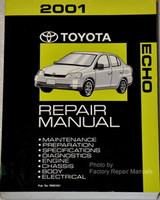2001 Toyota Echo Factory Service Manual Original Shop Repair Book
