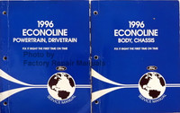 1996 Econoline Body Chassis Powertrain Drivetrain Service Manual Volume 1, 2