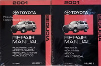 2001 Toyota Sequoia Repair Manual Volume 1, 2