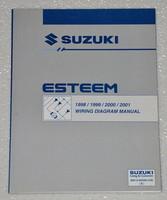 1998 2001 SUZUKI ESTEEM Electrical Wiring Diagrams Shop Manual GL GLX+ 1999 2000