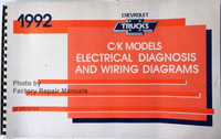 1992 Chevrolet Trucks CK Models Electrical Diagnosis and Wiring Diagrams