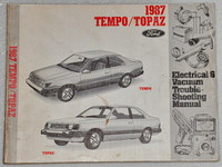 1987 Ford Tempo Mercury Topaz Electrical Vacuum Troubleshooting Shop Manual EVTM