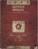 1990 Service Manual Rear Wheel Drive Truck D&W 150-350, Ramcharger