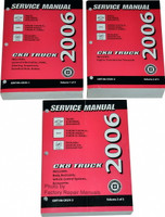 2006 Chevy Suburban Tahoe Avalanche GMC Yukon Cadillac Escalade Shop Service Manual  Volume 1, 2, 3