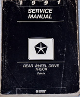 1991 Service Manual Rear Wheel Drive Truck Dakota