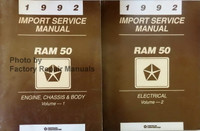 1992 Import Service Manual Ram 50 Volume 1, 2
