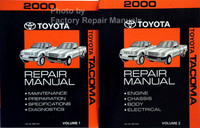 2000 Toyota Tacoma Repair Manual Volume 1, 2