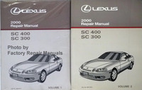 Lexus 2000 Repair Manual SC 400 SC 300 Volume 1, 2