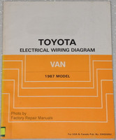 Toyota Electrical Wiring Diagram Van 1987 Model